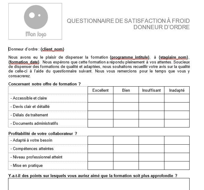 Questionnaire client